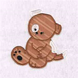 Sitting Dog embroidery design