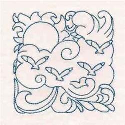 Redwork Cute Birds embroidery design