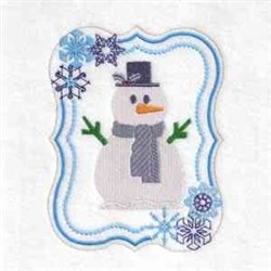 Winter Snowman Frame embroidery design