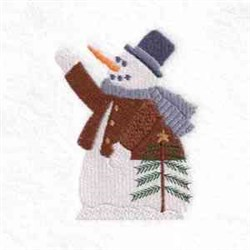 Snowman Tree  embroidery design