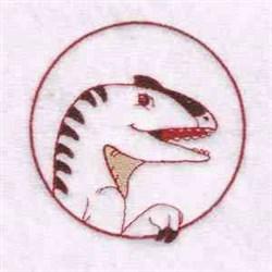 Velociraptor Circle embroidery design