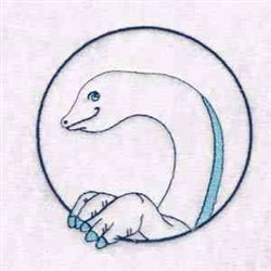 Brontosaurus Circle embroidery design