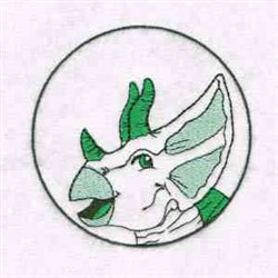 Triceratops Circle embroidery design