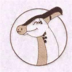 Parasaurolophus Circle embroidery design