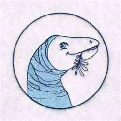 Apatosaurus Circle embroidery design