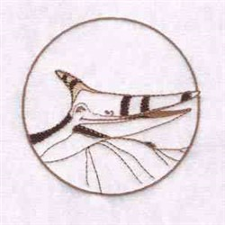 Pterodactyl Circle embroidery design