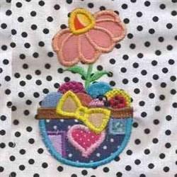 Easter Flower Applique embroidery design