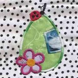 Ladybug Egg Applique embroidery design