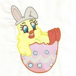 Easter Chick Bunny embroidery design