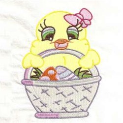 Chick Easter Basket embroidery design