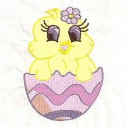 Egg Chick embroidery design
