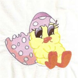 Egg Easter Chick embroidery design