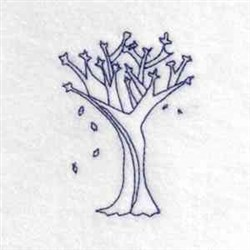 Fall Tree Outline embroidery design