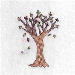 Fall Tree Color embroidery design