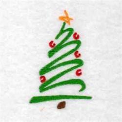 Ornament Tree embroidery design