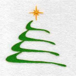 Swoosh Tree embroidery design