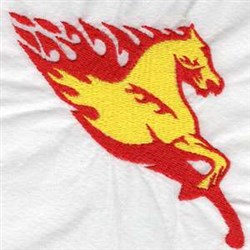 Flaming Horse embroidery design