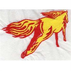 Flame Horse embroidery design