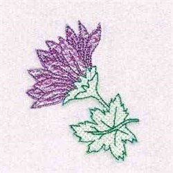 Mylar Bloom embroidery design
