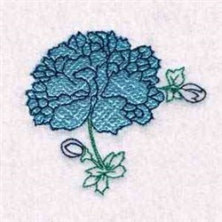 Floral Mylar embroidery design