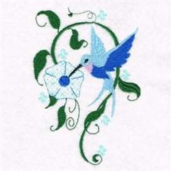 Flower Hummingbird embroidery design