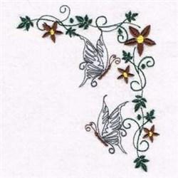 Flower Butterflies embroidery design