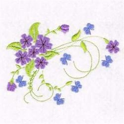 Flower Butterflies Corner embroidery design