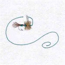 Fly Fishing Lure embroidery design