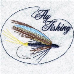 Fly Fishing Circle embroidery design