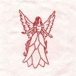 Redwork Grace Angel embroidery design