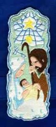 Nativity Bookmark embroidery design