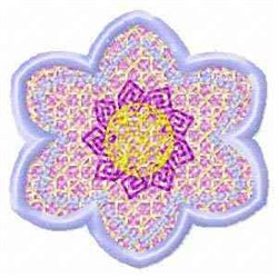 FSL Banner Flower Spring embroidery design