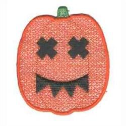 Applique Jack-o-lantern embroidery design