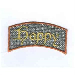 Happy Applique embroidery design
