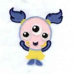 Applique Girl Monster embroidery design