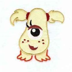 Girl Monster Applique embroidery design