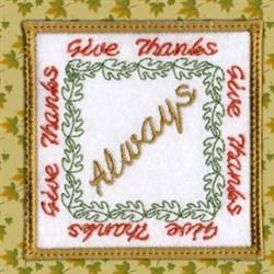 Thanksgiving Coaster Always embroidery design
