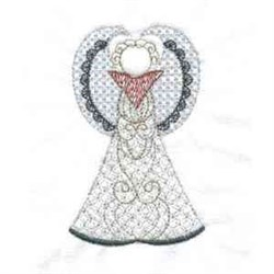 Silver Angel Gown embroidery design