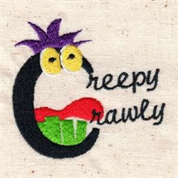 Halloween Creepy Crawly embroidery design