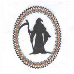 Halloween Reaper embroidery design