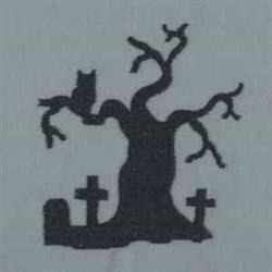 Graveyard Tree embroidery design
