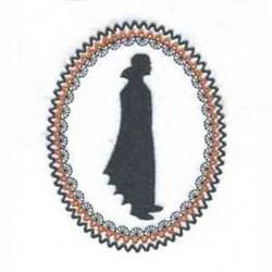 Vampire Oval embroidery design