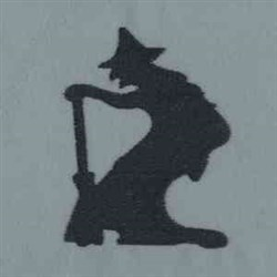 Witch Silhouette embroidery design