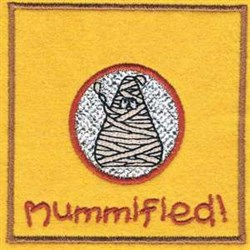 Mummified Bag Topper embroidery design