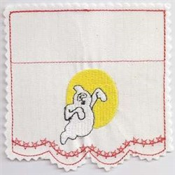 Ghost Bag Topper embroidery design