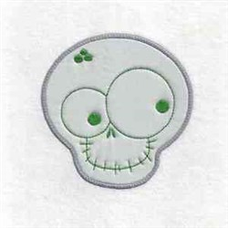 Skeleton Applique embroidery design