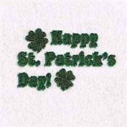 Happy St Patricks Day embroidery design