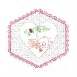 Heart Flower Girl embroidery design