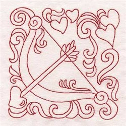 Valentine Cupidbow embroidery design