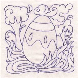 Holiday Easter Egg embroidery design